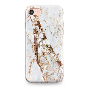 Gold Marble iPhone Silicone Case