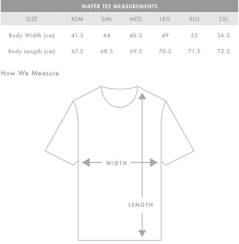 slim fit t-shirt sizing guide