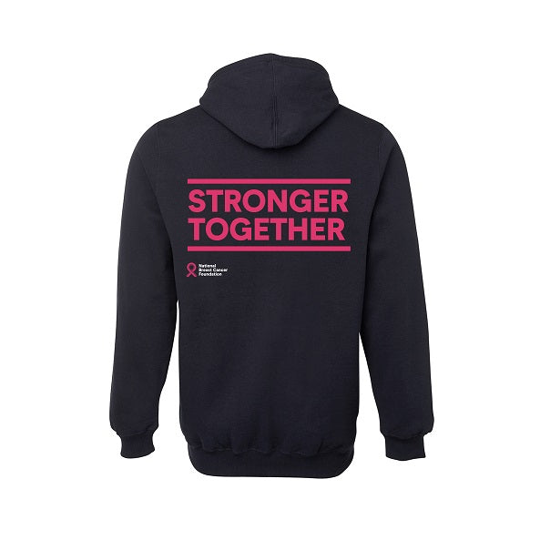Stronger Together large slogan hoodie (back)