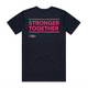 Stronger Together large slogan tee (regular fit)