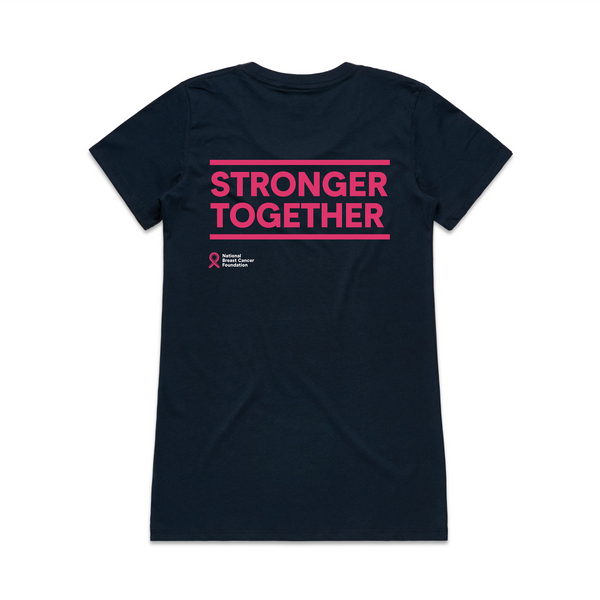 STRONGER TOGETHER large slogan T-shirt