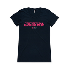 Together We Can Beat Breast Cancer medium slogan tee (slim fit)