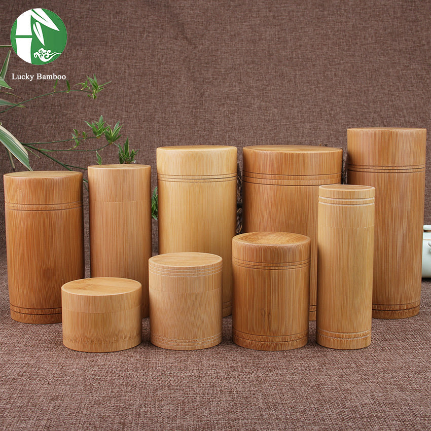 Bamboo Storage Containers With Lid Great For Tea Coffee Sugar