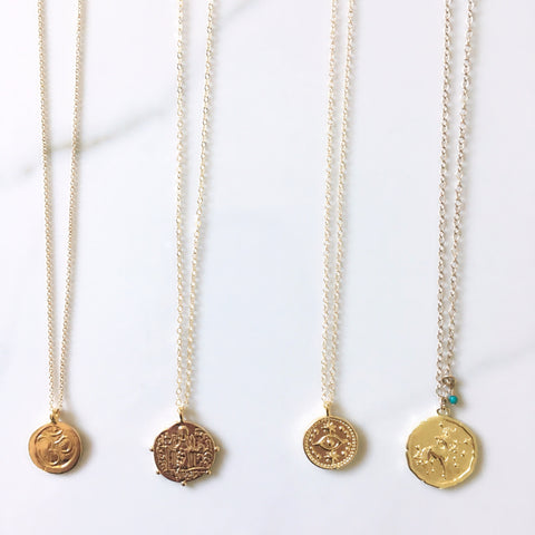 Gold Coin Medallion Necklaces