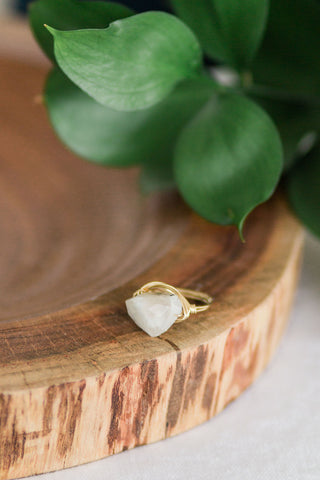 Raw Moonstone Ring