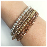 Gold/Rose Gold/Silver Beaded Bracelets