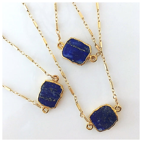 Lapis Free-form Necklace