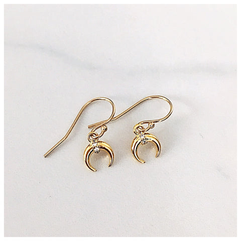 Mini Crescent Earrings