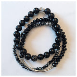 Black Onyx and Pave Bracelet