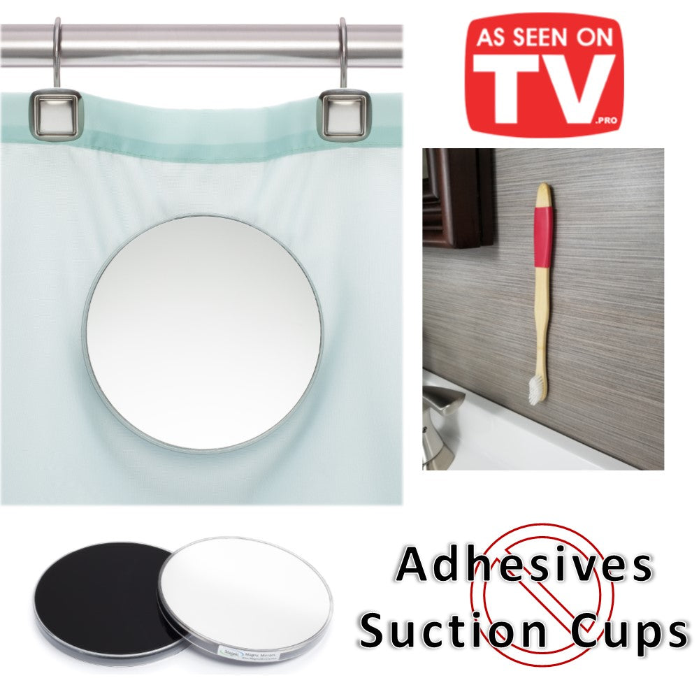 As Seen On TV Bundle - Magnic Bamboo Toothbrush and Magnetic Wall Holder