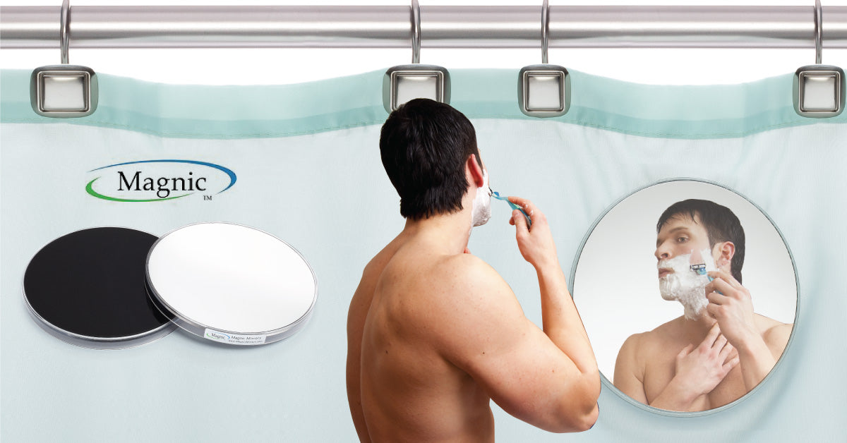 Magnic Mirror - 2 Piece Shower Mirror