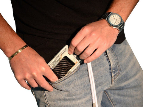 Black Carbon Fiber Money Clip