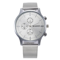 Classic Unisex Steel Strap Quartz Wrist Watch