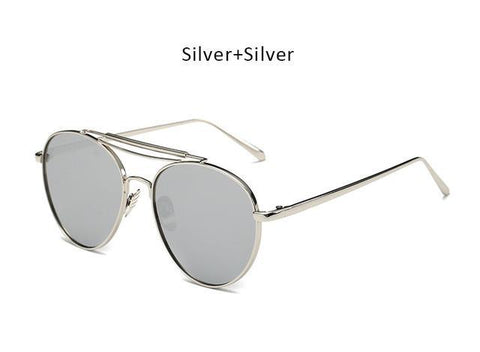 Flat Top Pilot Sunglasses
