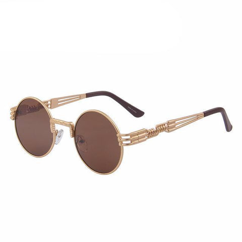 Unisex Steampunk Retro Round Sunglasses