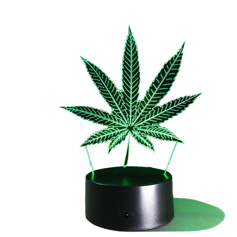 WEED 3D ILLUSION LAMP