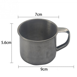 100ml Stainless Steel Double Walled Mugs Metal Coffee Tea Cup Mug Drinking Cups with Handles