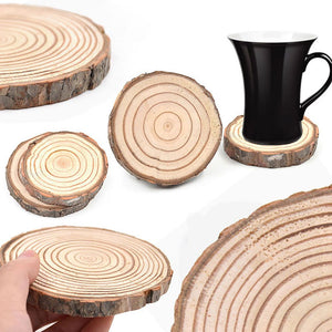 1pc Natural Round Wood Coasters Cup Mat Tea Coffee Mug Drinks Holder Table Mat Wooden Coasters For Drinks