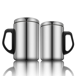 350ml/500ml Stainless Steel Cup Wine Beer Drink Coffee Insulated Mugs Outdoor Office Travel Double Wall Water Tea Cup with Lid