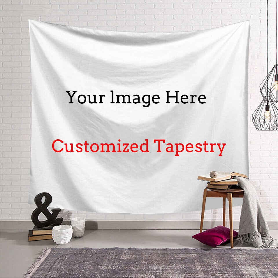 BERINA Custom Tapestry Wall Hanging Carpet Photo Custom Polyester Wall Cloth Yoga Mat Beach Towel Farmhouse Decor  Tapestries