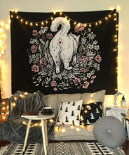 Cat Witchcraft Tapestry Wall Hanging Tapestries Mysterious Divination Baphomet Occult Home Wall Black Cool Decor Cat Coven