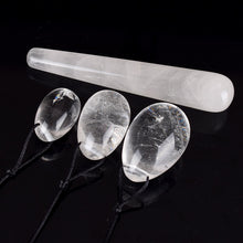 Natural Rock Quartz Crystal Massage Wand Jade Yoni Eggs for Women Kegel Exercise Pelvic Floor Vaginal Muscle Tighten Exerciser