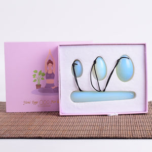 Opalite Yoni Egg Set Gift Boxes Massage Wand Tools Kegel Muscle Exerciser Health Crystal Ball Massager Mineral Quartz Stone Tool