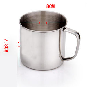 Outdoor Camping Hiking Tea Mug Cup Stainless Steel Coffee Cup Office School Gift Useful