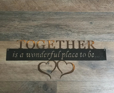 Together is a wonderful place to be..
