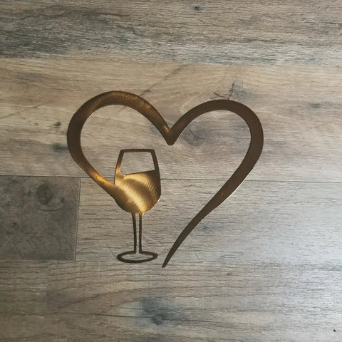 Heart With Wine Glass