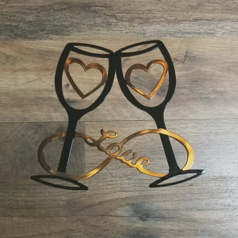 Wine Glasses, Hearts (Infinity)