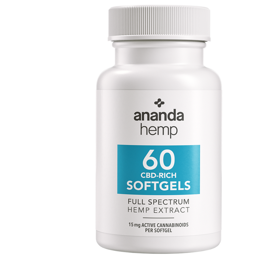 Ananda Hemp Full Spectrum Gel Caps 900mg (60 ct.)