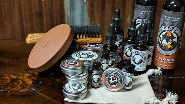 Top quality, authentic High Desert Man hair & beard care products.
