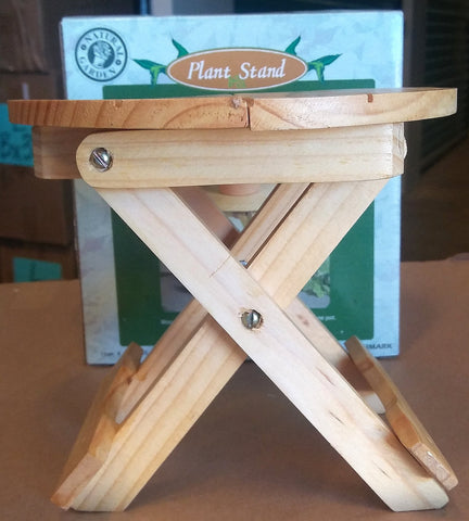WOODEN TABLE PLANT STAND