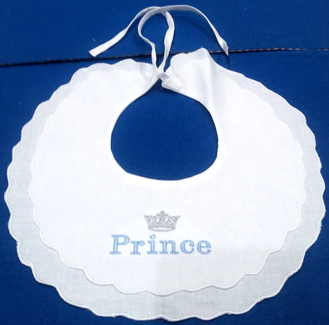 PRINCE COLLAR BIB WITH SCALLOP EDGE