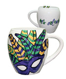 ABSTRACT MASK MUG