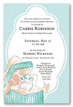 TIFFANY RING - BLANK STOCK INVITATION