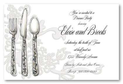 FLATWARE - BLANK STOCK INVITATION