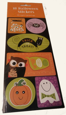 18 LARGE HALLOWEEN STICKERS