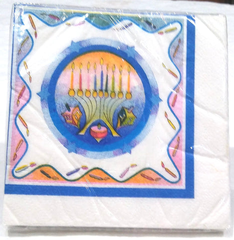 THE RADIANCE OF HANUKKAH PAPER BEVERAGE NAPKINS