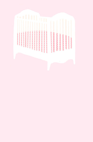 BABY GIRL CRIB - BLANK STOCK INVITATION