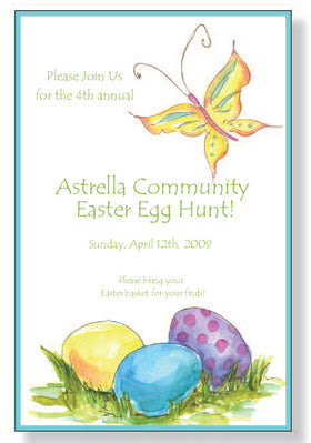 GARDEN EGGS - BLANK STOCK INVITATION