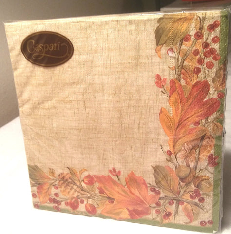 AUTUMN GARLAND PAPER LUNCHEON NAPKINS
