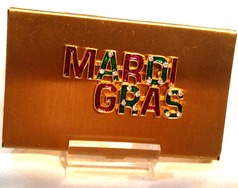 MARDI GRAS BUSINESS CARD HOLDER