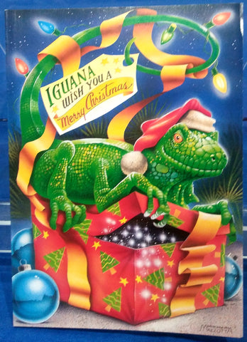 IGUANA WISH YOU A MERRY CHRISTMAS BOXED GREETING CARDS