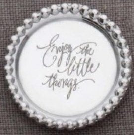 RING HOLDER DISH - ENJOY THE LITTLE THINGS