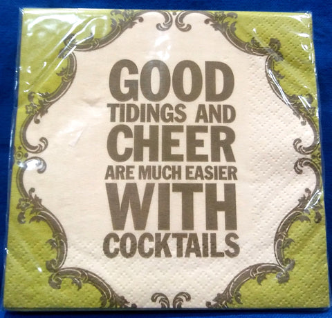 GOOD TIDINGS PAPER BEVERAGE NAPKINS