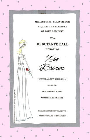 DEBUTANTE GIRL - BLANK STOCK INVITATION