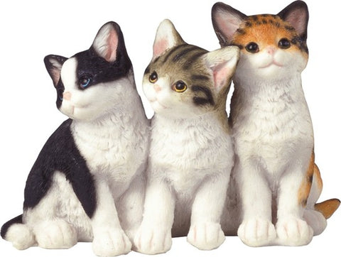 TRIPLE KITTENS FIGURINE