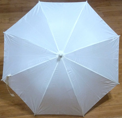 19 INCH IVORY NYLON UMBRELLA